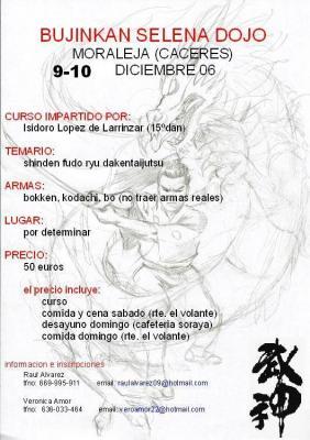 Seminario en Cáceres con Isidoro López - 9 y 10 Diciembre