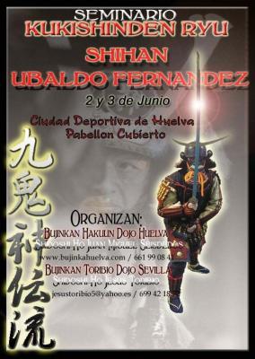 CURSO KUKISHINDEN RYU EN HUELVA - 2 Y 3 DE JUNIO