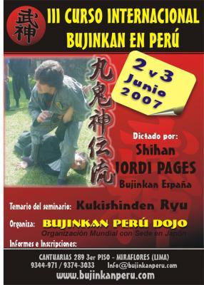 SEMINARIO EN PERÚ CON JORDI PAGÉS - LIMA 2 Y 3 DE JUNIO