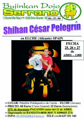 Curso en Elche con César Pelegrín - 25,26 y 27 Abril