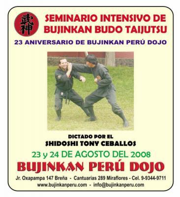Curso en Perú - 23º Aniversario de Bujinkan Perú Dojo