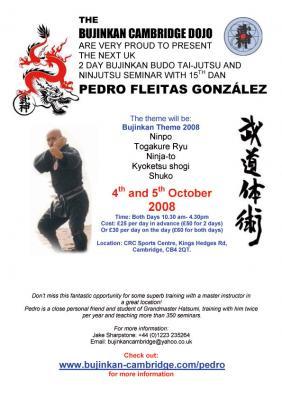 Seminario en Cambridge con Pedro Fleitas - Octubre 4 y 5
