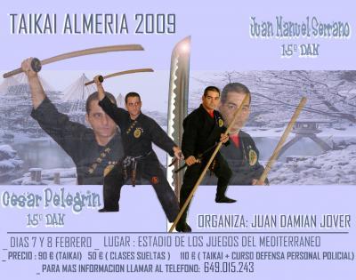 Curso en Almería con Juan M. Serrano y César Pelegrín