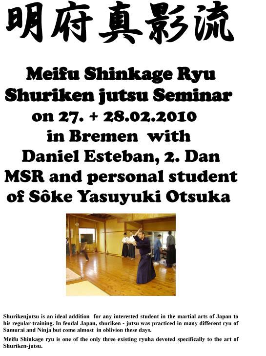 Curso de Meifu Shinkage Ryu en Bremen (Alemania)